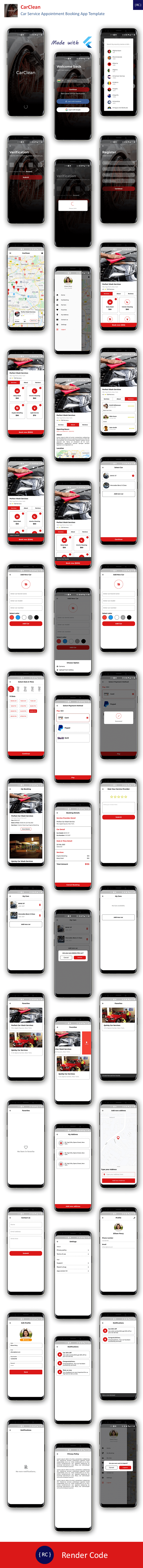 Car Service Appointment Booking App Template in Flutter | CarClean - 3