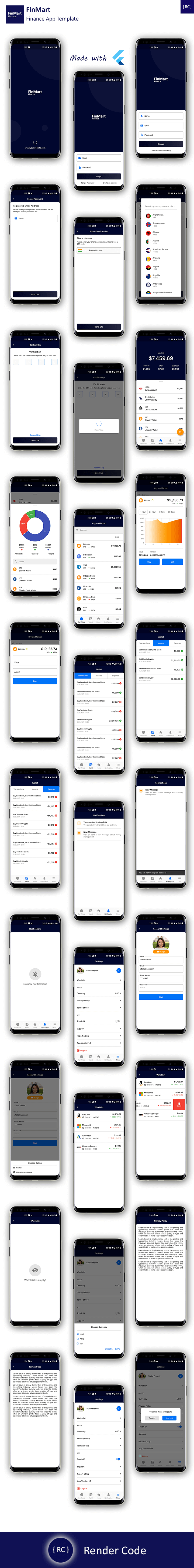 Crypto App Android + Crypto App iOS Template | Finance & Crypto App Template Flutter | FinMart - 4