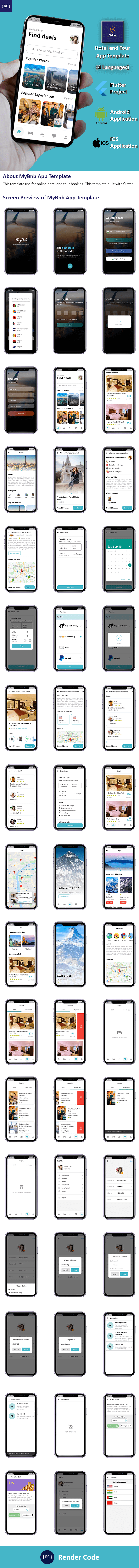 Flutter Hotel Booking and Tour Travel App Template in Flutter | Multi Language | MyBnb - 9