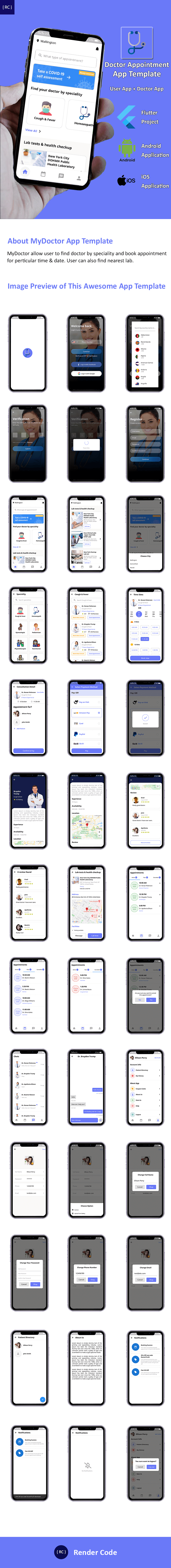 Doctor Appointment Booking App Template Flutter | 2 Apps | User App + Doctor App | MyDoctor - 4