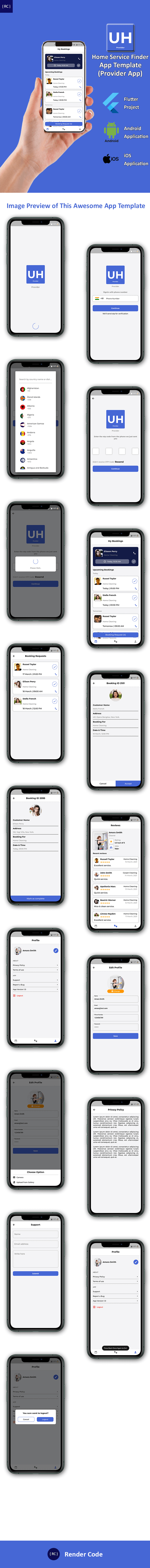 Home Service Finder | Provider | Booking Android + iOS App Template | 2 Apps | UrbanHome - 5