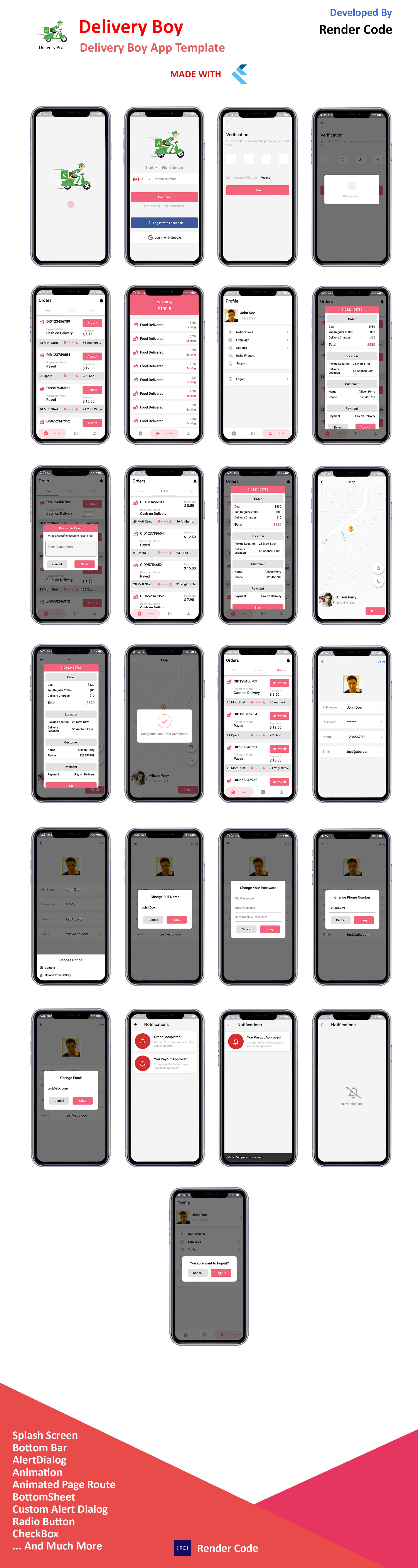Biggest Flutter UI Kit with 10 Ready to Use App Template | StartKit - 6