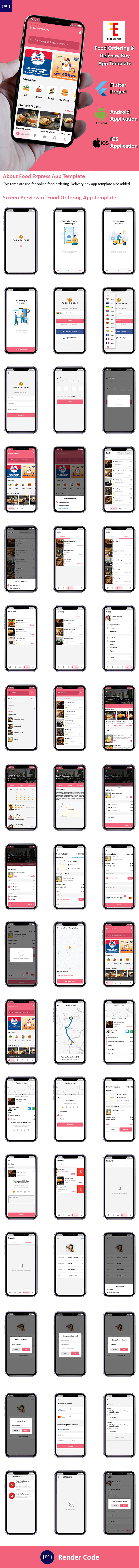 Flutter Food | 2 Apps | Food Ordering App + Delivery Boy App Template in Flutter - 7