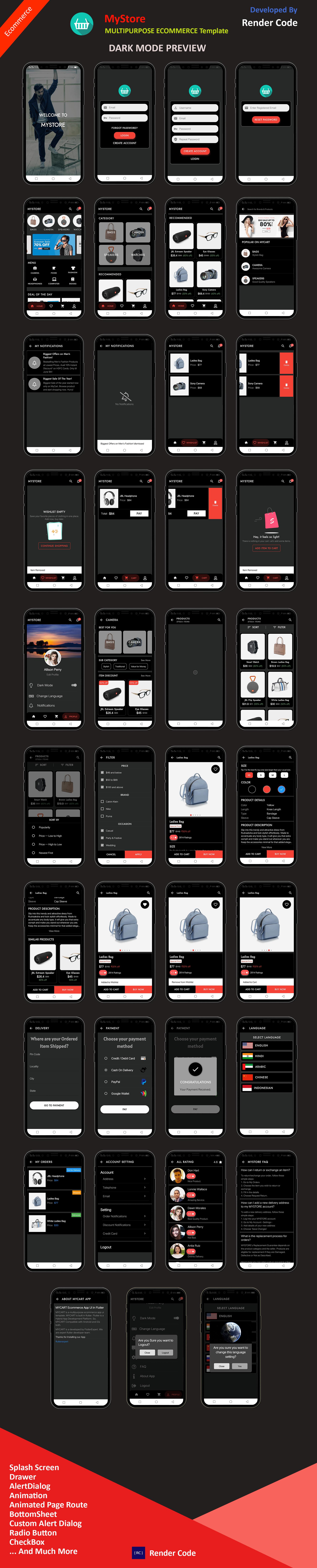 StunningKit - Biggest Flutter App Template Kit (15 App Template) - 12