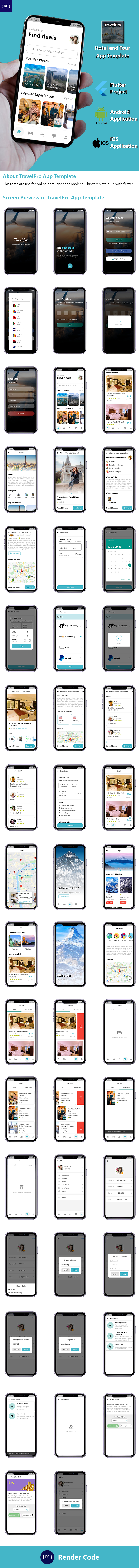 Flutter Hotel Booking and Tour Travel App Template in Flutter | TravelPro - 10